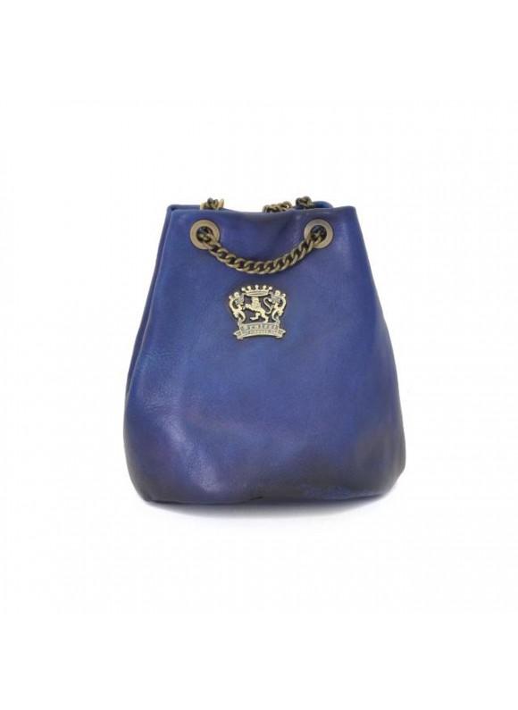 Pratesi Pienza Bag in cow leather - Bruce Blue