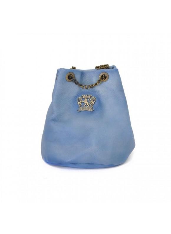 Pratesi Pienza Bag in cow leather - Bruce Sky Blue