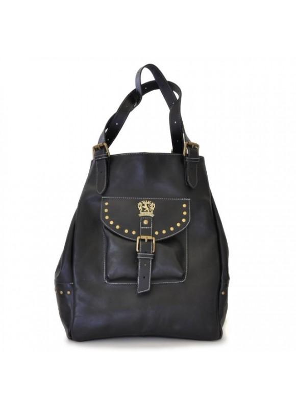 Pratesi Woman Bag Talamone in cow leather - Bruce Black