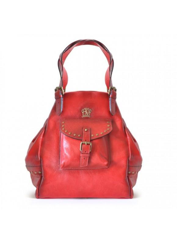 Pratesi Woman Bag Talamone in cow leather - Bruce Cherry