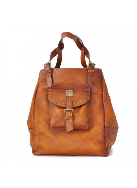 Pratesi Woman Bag Talamone in cow leather - Bruce Cognac
