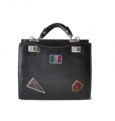 'Pratesi Lady Bag Anna Maria Luisa de'' Medici Medium in cow leather - Bruce Black'