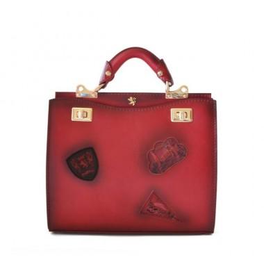'Pratesi Lady Bag Anna Maria Luisa de'' Medici Medium in cow leather - Bruce Cherry'