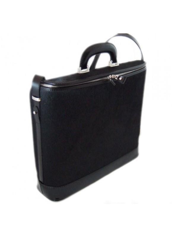 Pratesi Raffaello Cavallino Laptop Bag in real leather - Cavallino Black