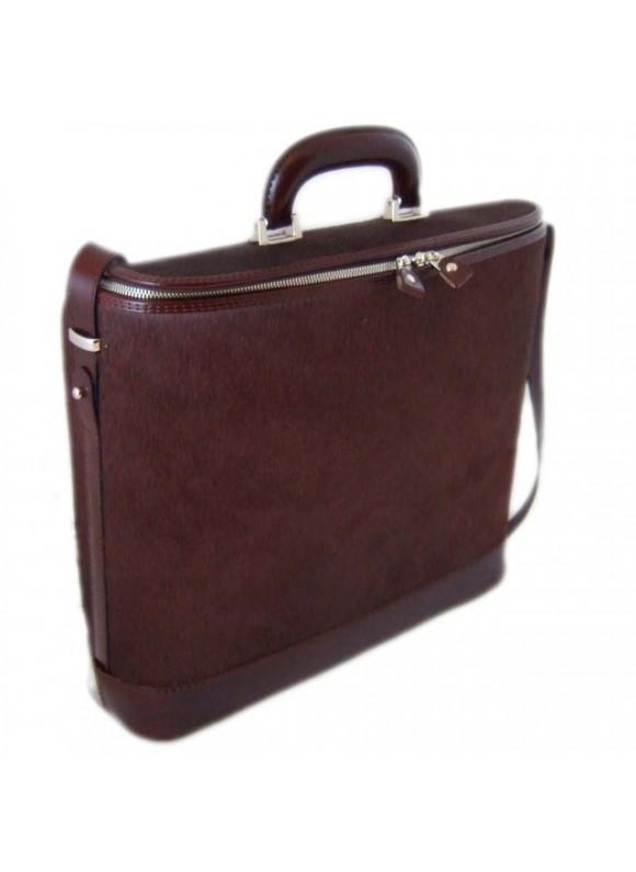 Pratesi Raffaello Cavallino Laptop Bag in real leather - Cavallino Brown