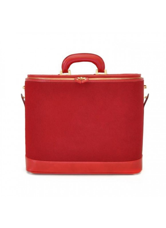 Pratesi Raffaello Cavallino Laptop Bag in real leather - Cavallino Cherry