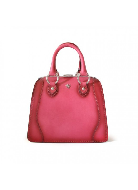Pratesi Handbag Saturnia Small in cow leather - Bruce Pink