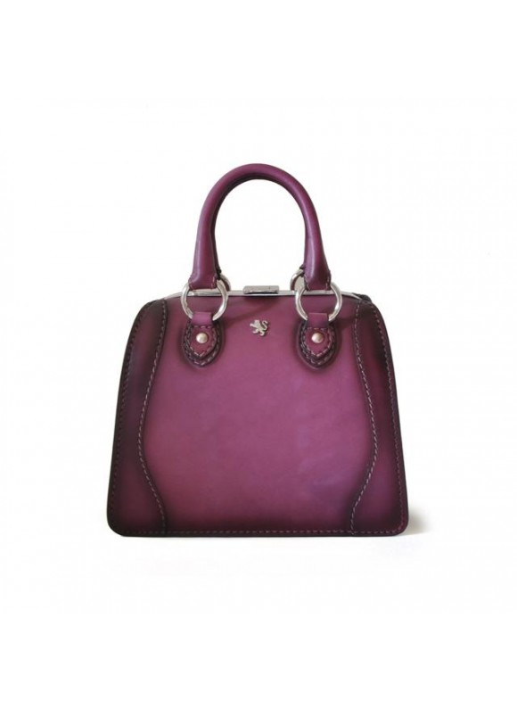 Pratesi Handbag Saturnia Small in cow leather - Bruce Violet