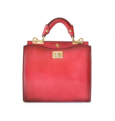 'Pratesi Anna Maria Luisa de'' Medici Small Santa Croce Lady Bag in real leather - Santa Croce Pink'