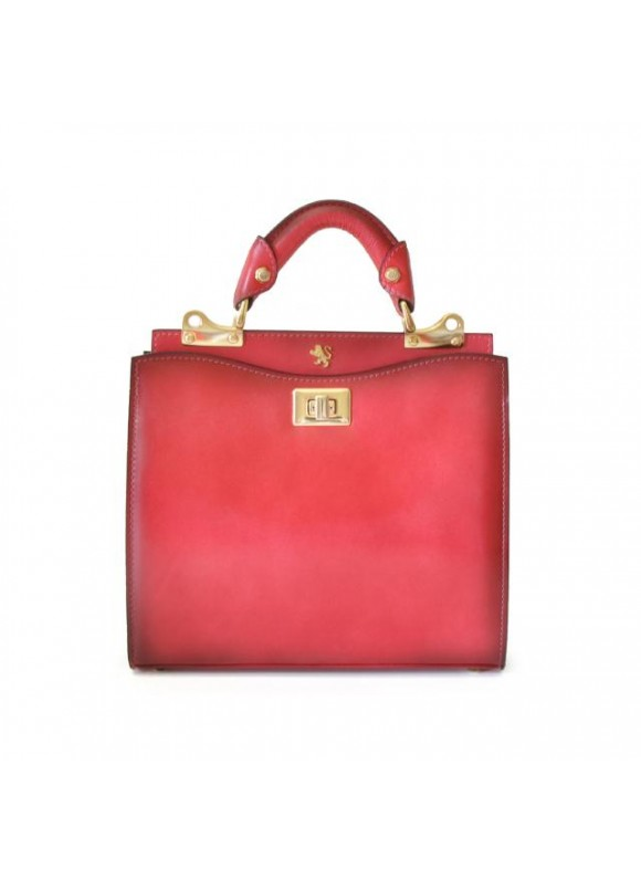 'Pratesi Anna Maria Luisa de'' Medici Small Santa Croce Lady Bag in real leather - Santa Croce Pink'