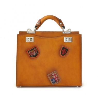 'Pratesi Lady Bag Anna Maria Luisa de'' Medici Medium in cow leather - Bruce Cognac'