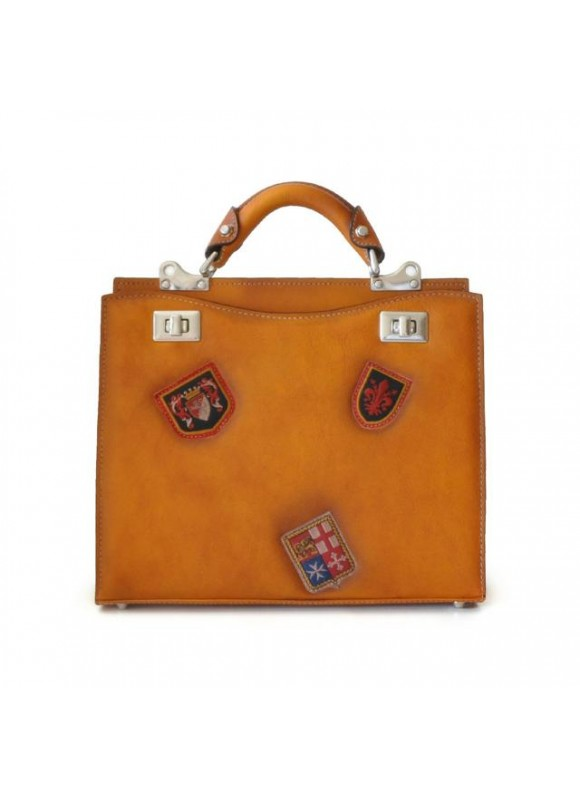 'Pratesi Lady Bag Anna Maria Luisa de'' Medici Medium in cow leather - Bruce Cognac'