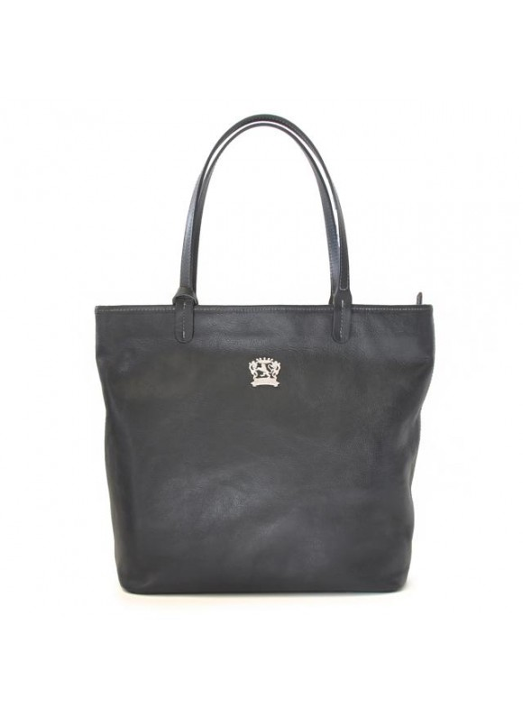 Pratesi Monterchi Tote Bag in cow leather - Bruce Black