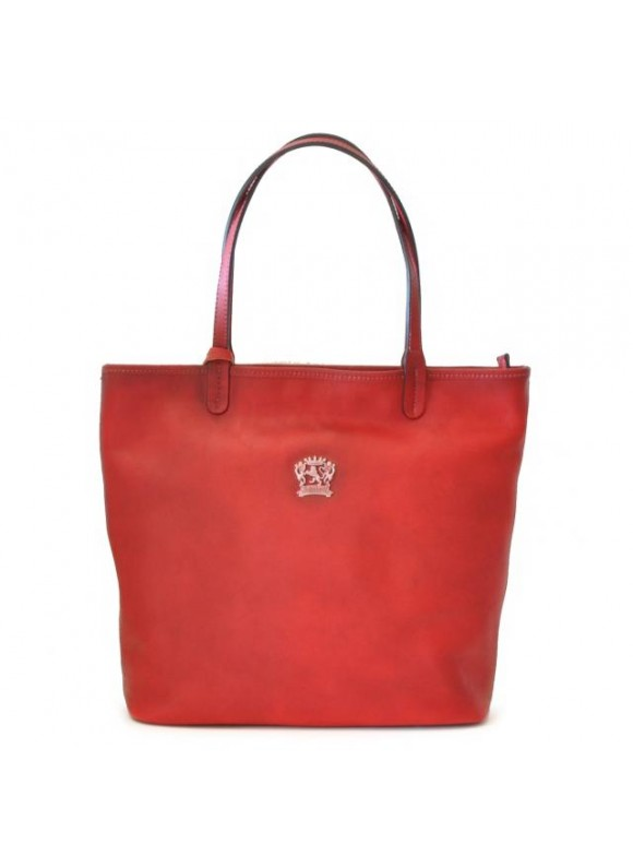 Pratesi Monterchi Tote Bag in cow leather - Bruce Cherry