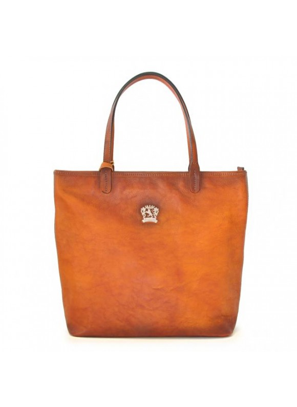 Pratesi Monterchi Tote Bag in cow leather - Bruce Cognac