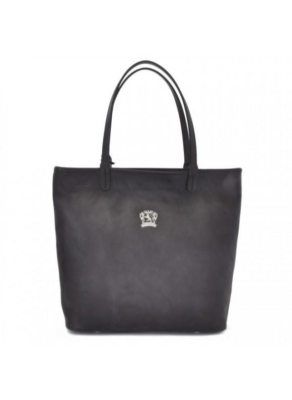 Pratesi Monterchi Tote Bag in cow leather - Bruce Grey