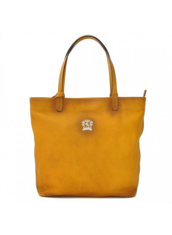 Pratesi Monterchi Tote Bag in cow leather - Bruce Mustard