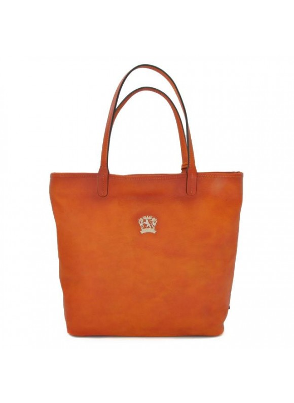 Pratesi Monterchi Tote Bag in cow leather - Bruce Orange