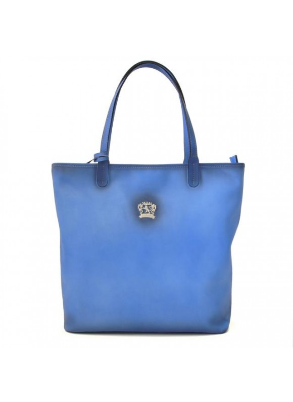 Pratesi Monterchi Tote Bag in cow leather - Bruce Sky Blue