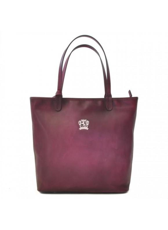 Pratesi Monterchi Tote Bag in cow leather - Bruce Violet