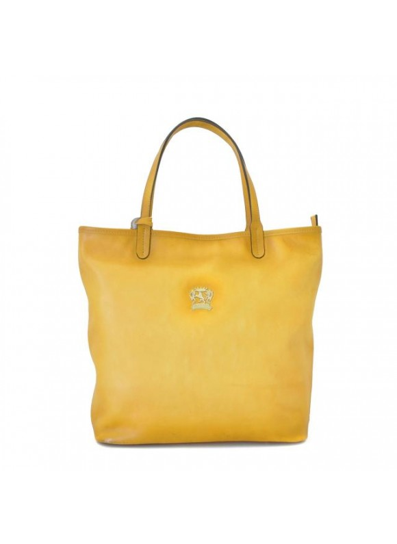 Pratesi Monterchi Tote Bag in cow leather - Bruce Yellow