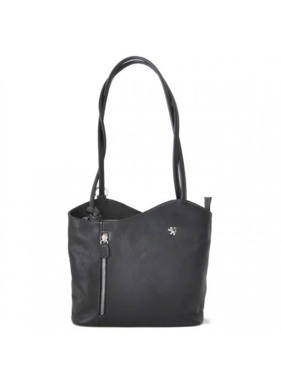 Pratesi Shoulder Bag Consuma Small in cow leather - Bruce Black