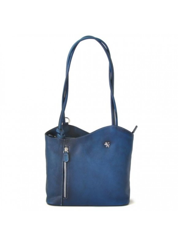 Pratesi Shoulder Bag Consuma Small in cow leather - Bruce Blue