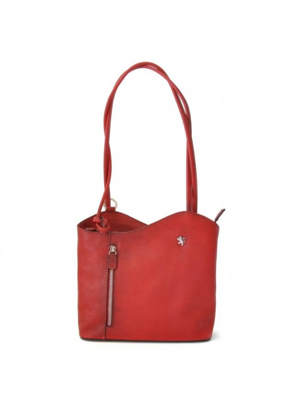 Pratesi Shoulder Bag Consuma Small in cow leather - Bruce Cherry
