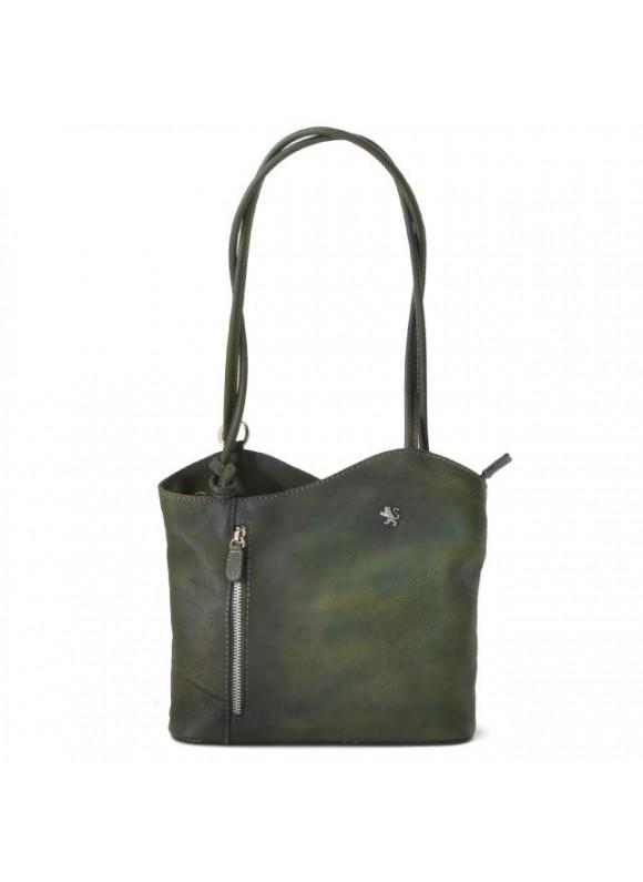Pratesi Shoulder Bag Consuma Small in cow leather - Bruce Dark Green