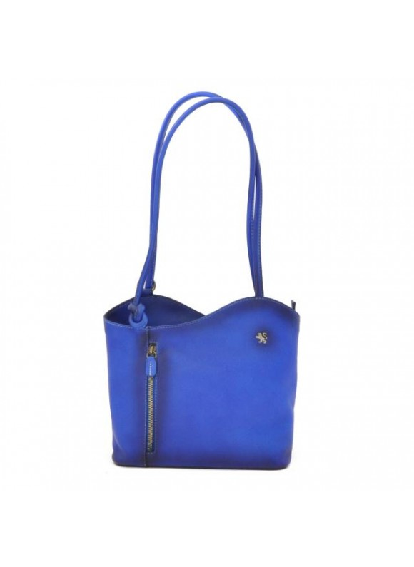 Pratesi Shoulder Bag Consuma Small in cow leather - Radica Electric Blue