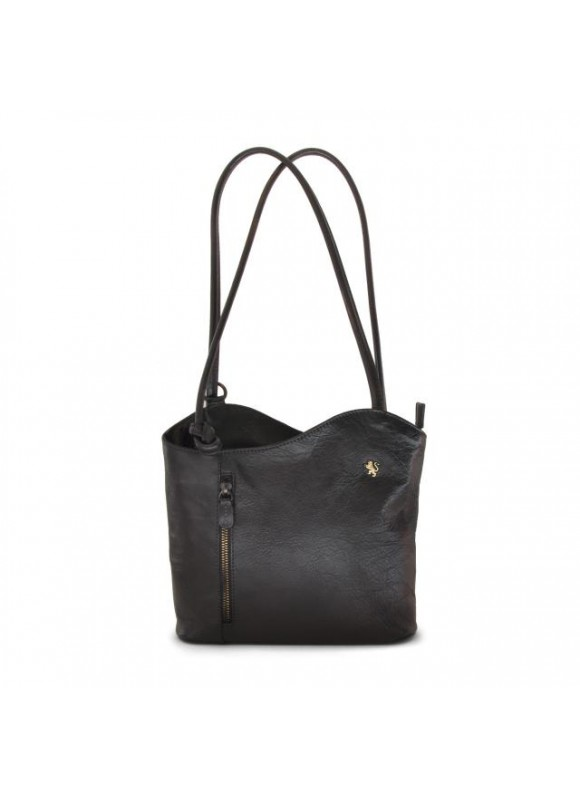 Pratesi Shoulder Bag Consuma Small in cow leather - Bruce Grey