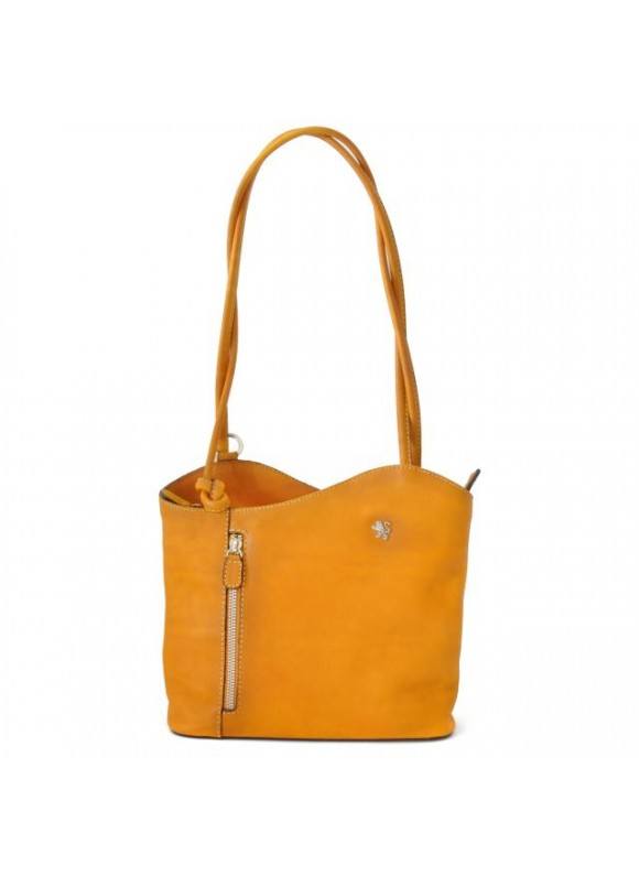 Pratesi Shoulder Bag Consuma Small in cow leather - Bruce Mustard
