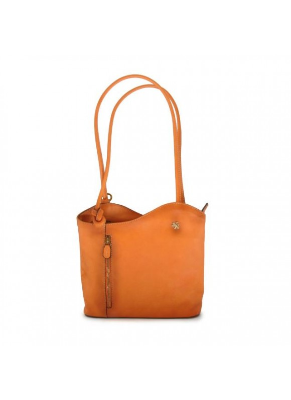 Pratesi Shoulder Bag Consuma Small in cow leather - Bruce Orange