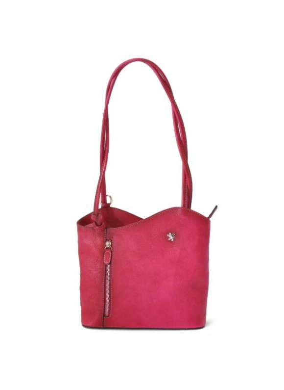 Pratesi Shoulder Bag Consuma Small in cow leather - Bruce Pink