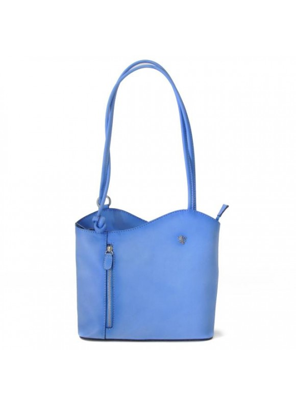 Pratesi Shoulder Bag Consuma Small in cow leather - Bruce Sky Blue