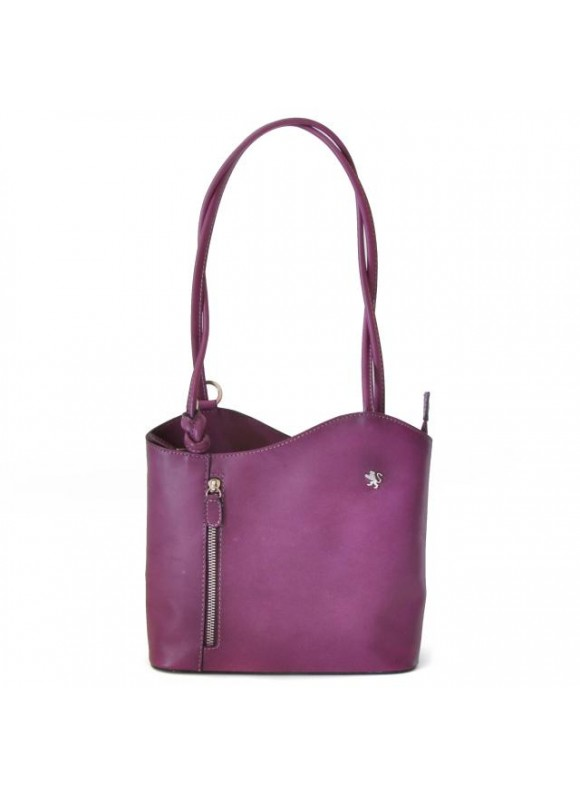 Pratesi Shoulder Bag Consuma Small in cow leather - Bruce Violet