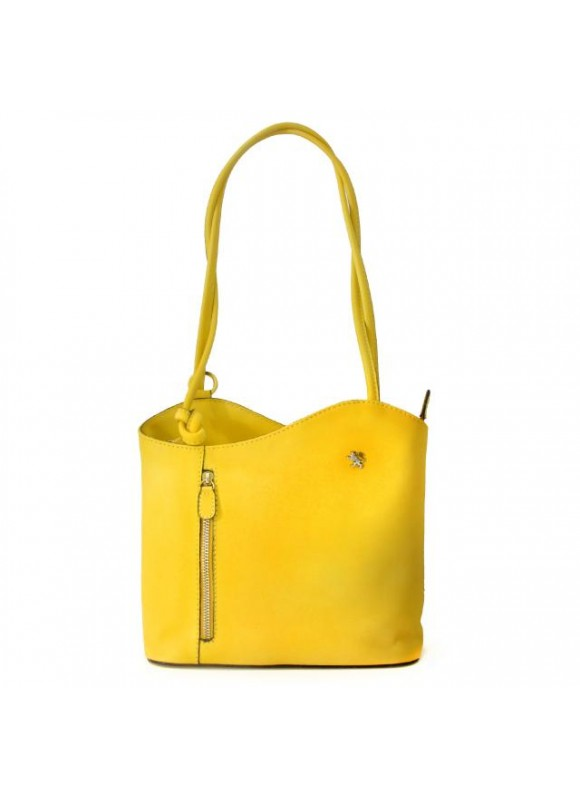 Pratesi Shoulder Bag Consuma Small in cow leather - Bruce Yellow