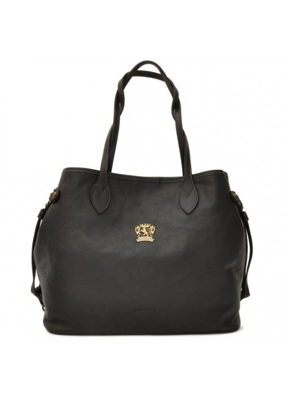 Pratesi Vetulonia Shoulder Bag in cow leather - Bruce Black
