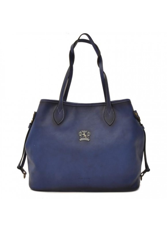 Pratesi Vetulonia Shoulder Bag in cow leather - Bruce Blue