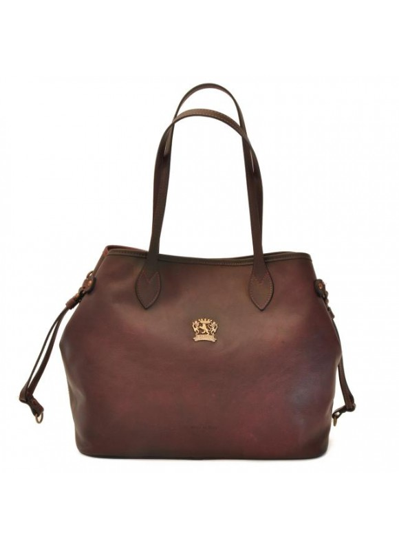 Pratesi Vetulonia Shoulder Bag in cow leather - Bruce Coffee