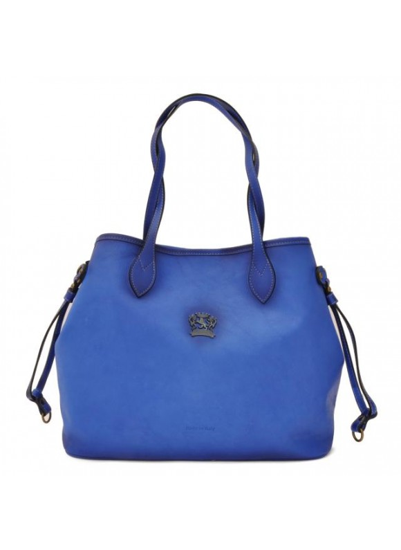 Pratesi Vetulonia Shoulder Bag in cow leather - Bruce Electric Blue