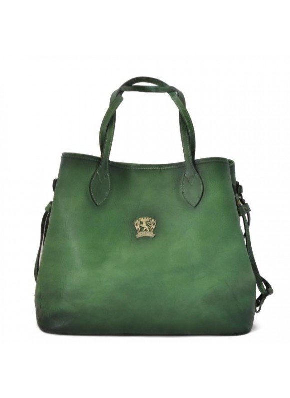 Pratesi Vetulonia Shoulder Bag in cow leather - Bruce Emerald