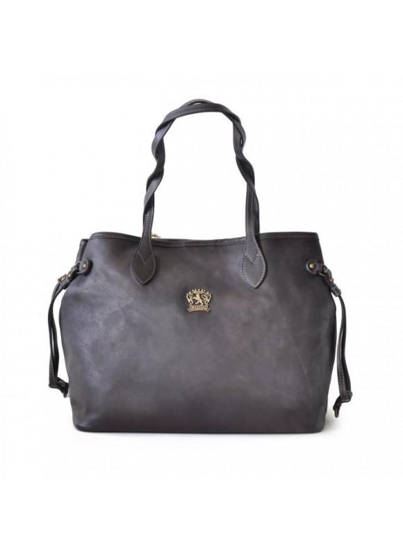 Pratesi Vetulonia Shoulder Bag in cow leather - Bruce Grey