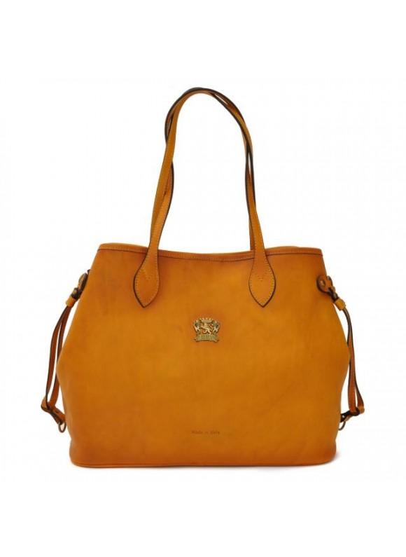 Pratesi Vetulonia Shoulder Bag in cow leather - Bruce Mustard