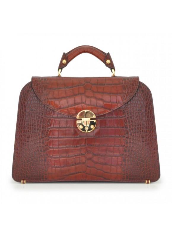 Pratesi Veneziano Big King Handbag in cow leather - King Brown