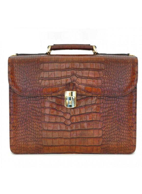 Pratesi Verrocchio King Briefcase - King Cognac