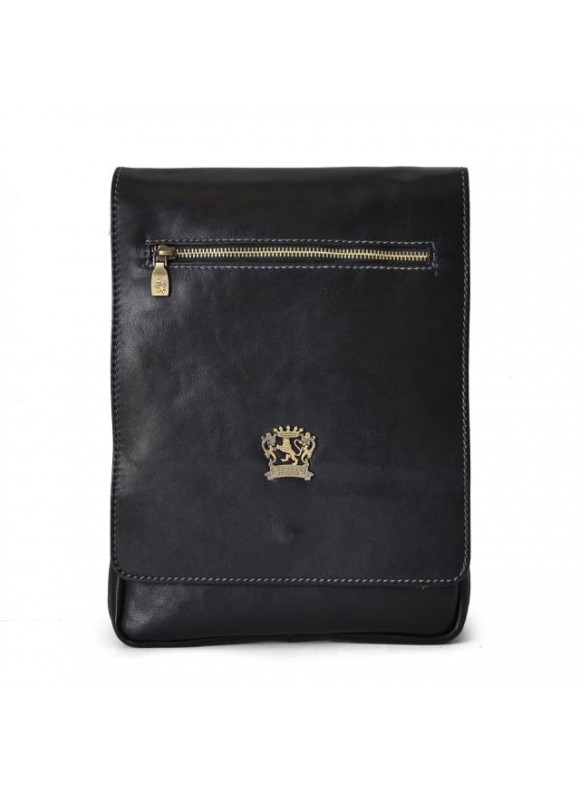 Pratesi Vinci Cross-Body Bag in cow leather - Bruce Black