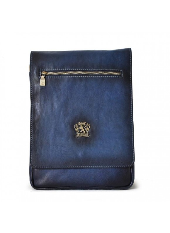 Pratesi Vinci Cross-Body Bag in cow leather - Bruce Blue