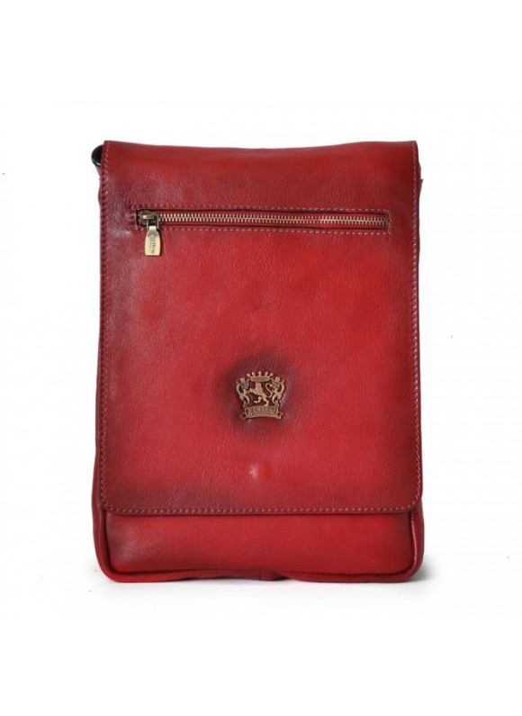 Pratesi Vinci Cross-Body Bag in cow leather - Bruce Cherry