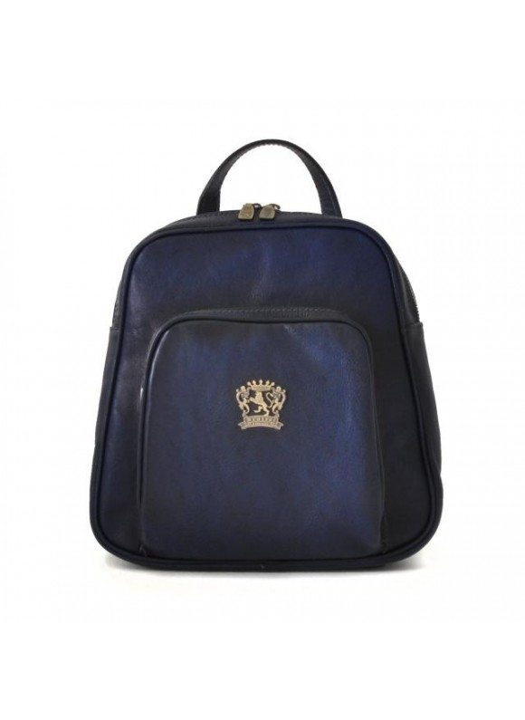 Pratesi Sirmione Backpack in cow leather - Bruce Blue